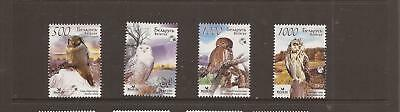 Belarus 2007 Owls Mnh Set Of Stamps