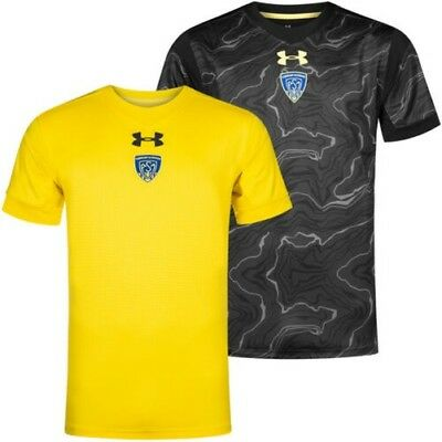 Asm Clermont Auvergne Under Armour Rugby Hommes Tricot Jersey Haut 1300254 Neuf