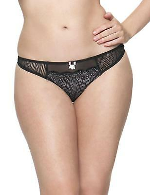 Curvy Kate Roxie Thong Black/Sherbet 2302 Curvy Kate Lingerie SALE