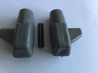 lambretta stand feet and roll pins Grey top quality CASA