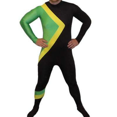Jamaican Bobsleigh Bobsled Team Cool Fancy Dress Costume Running Outfit - Medium
