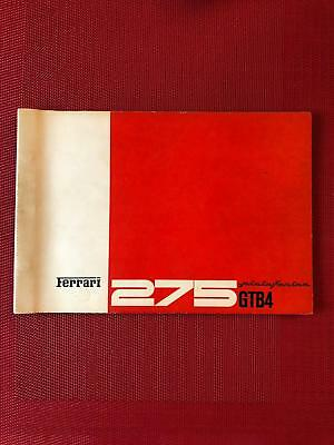 Original Ferrari 275 GTB4 spare parts catalogue