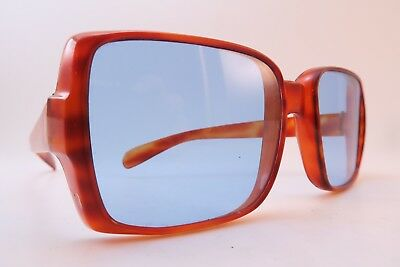 Vintage Late 60s sunglasses NISOL blue glass lens made in Italy men's medium