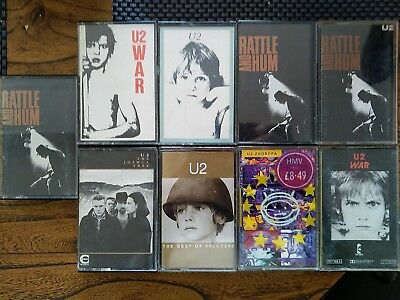 LOT 9 cassettes K7 audio U2