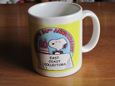 Snoopy / Peanuts Ceramic Mug 50Th Anniversary