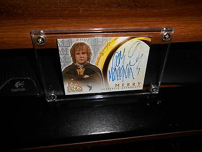 The Lord Of The Rings Autograph Card Dominic Monaghan As Merry Topps New Fr Sh!