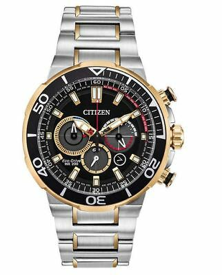 NEW Citizen Eco-Drive Brycen CA4258-87E Men's Two-Tone Stainless Steel Watch