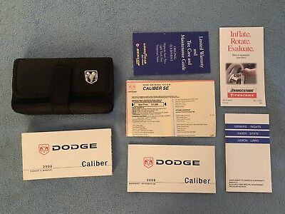 2008 Dodge Caliber Owners Manual Set + Dodge Case-Fast Free Shipping!