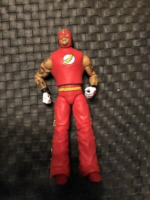 Rey Mysterio WWE Elite Mattel The Flash Figure- Ringside Exclusive, Red