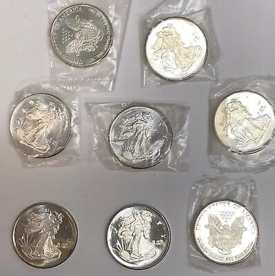 Lot of 8-1/4 Troy oz Walking Liberty Silver Eagle 999 Silver Rounds Total 2 oz