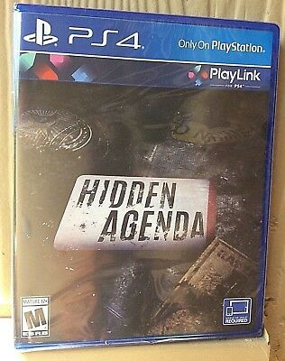 HIDDEN AGENDA PS 4 (PlayStation 4, 2017) Brand New Factory Sealed Video Game