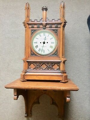 Rare Huge Cooke And Kelvey Calcutta Double Fusee Clock With Bracket