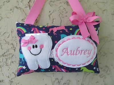 Tooth Fairy Pillow Personalized Unicorn