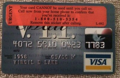 Expired 2000 Mall VIP Visa Credit Card - PNC National Bank - Unused