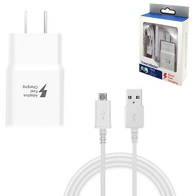 Fast Charger Travel Adapter Cable For Samsung Galaxy Note 5/4 S6/7 Edge White
