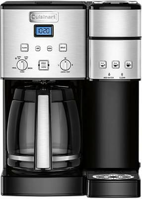 Cuisinart - Coffee Center 12-Cup Coffee Maker and Single-Serve Brewer - Stain...