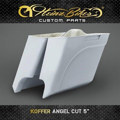 "Koffer Saddlebags ANGEL CUT 5"" Harley-Davidson Road King 2014 - 2019"