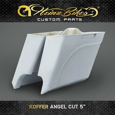 "Koffer Saddlebags ANGEL CUT 5"" Harley-Davidson Road Glide 2014 - 2019"