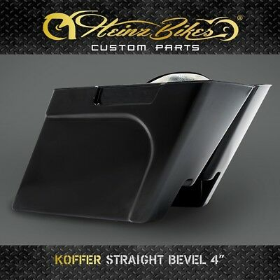 "Koffer Sadlebags STRAIGHT BEVEL 4"" Harley Bagger Parts Touring 1996 - 2013"