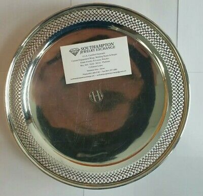 Tiffany & Co. Sterling Silver Serving Platter / Dish / Cookie Tray 430.8Grms