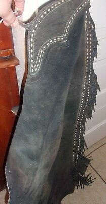 Vintage Western Riding Horse Chaps  Blue With Buck Stitching 19.99 Nr