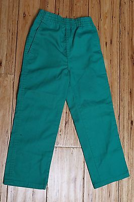 Vintage Made in USA Children's Kelly Green Elastic Waist Pants Size 5