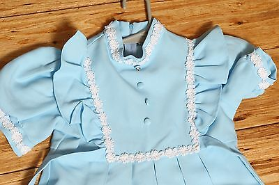 Nice Vintage Sears Perma Prest Winnie the Pooh Blue Formal Dress Size 6