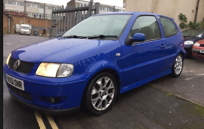 VW Polo colour concept 16v 1.4 2001 spares repairs may break blue leather