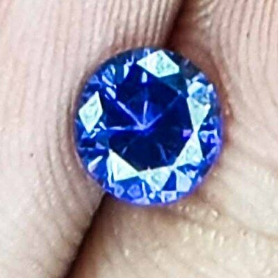 1.89 Cts Top Clean Exceptional Untreated Fullfire Violet Blue Natural Tanzanite
