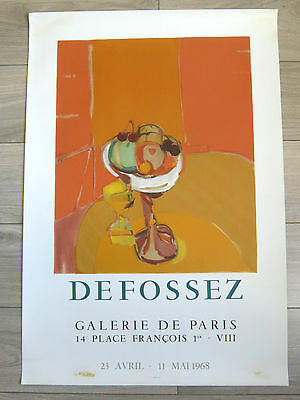 Affiche originale Litho DEFOSSEZ Mourlot 1968 Nature morte aux fruits