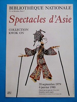 Affiche originale 79 Spectacles d'Asie Collection Kwok On BN Théâtre marionnette