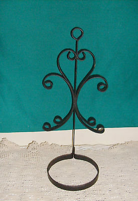 Vintage Wrought Iron Plant Pot Holder Garden Wall Hanging