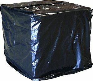Laddawn Uvi Protective Pallet Top Covers, 51 X 49 X 73, 3 Mil, Black, 40/Case