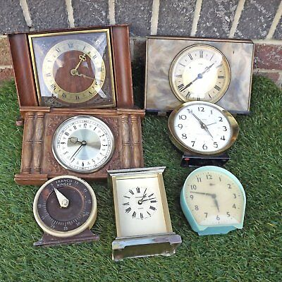 Collection 7 Vintage Clocks / Timer - Job Lot For Spares Or Repair