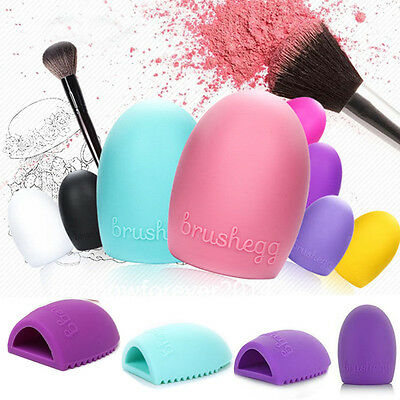 Egg Cleaning Glove MakeUp Washing Brush Scrubber Board Cosmetic Brush Cleaner H0