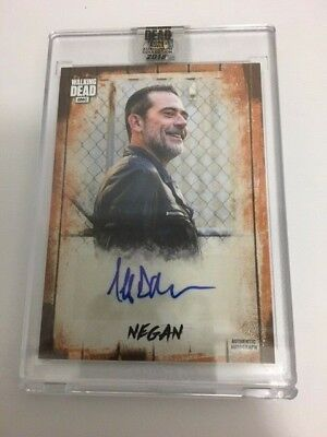 2018 Topps Walking Dead Negan Jeffrey Dean Morgan Auto #22/50 Encased Auto Ssp