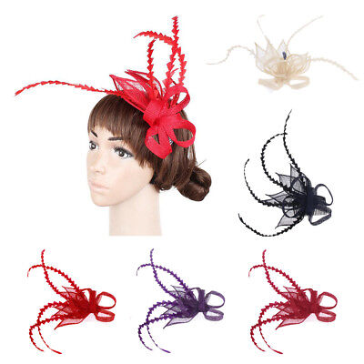 Butterfly Flower Wedding Ascot Fascinator on Comb Hat Hair Accessories