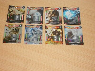Doctor Who Battles in Time x 8 Cards (DVC01 to DVC08) Good