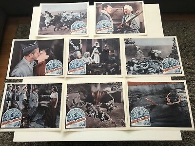 """1949 OUTPOST IN MOROCCO 14x11"""" Lobby Card George Raft, Marie Windsor *Set Of 8*"""