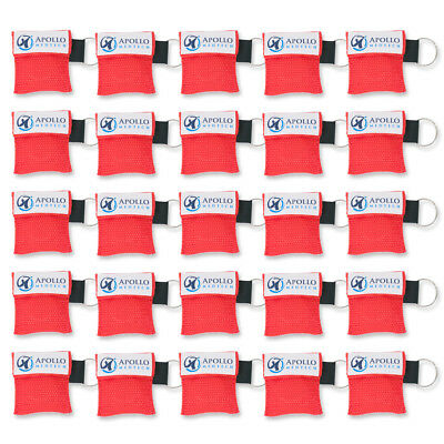 25 pack - Key Ring CPR Mask - Emergency Face Shield with One-way Valve