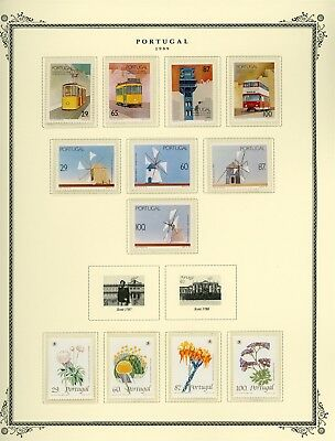 Portugal Scott Specialized Album Page Lot #141 - SEE SCAN - $$$