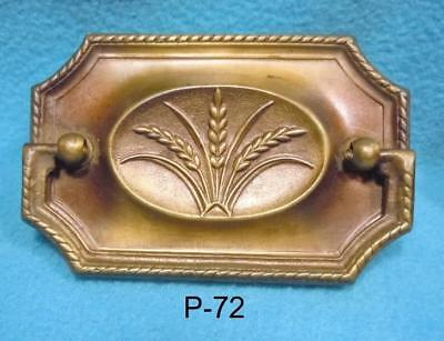 P-72 Antique/vintage Furniture Drawer Pull, Duncan Phyffe Style, pressed Brass