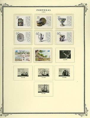 Portugal Scott Specialized Album Page Lot #146 - SEE SCAN - $$$