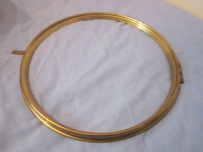 Brass Bezel for 12 inch Dial Clock, new old stock.