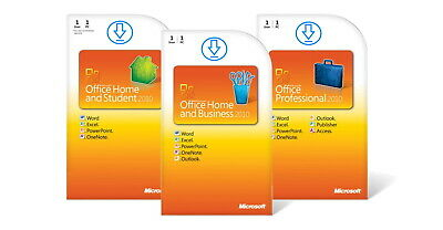 Microsoft Office 2010 Home and Student / Business / Professional Vollversion 1PC
