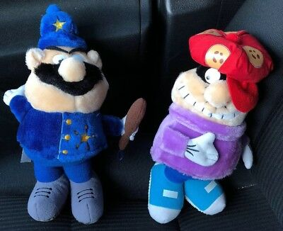 "80's Cookie Crisp Cereal 11"" Cookie Crook & Officer Crumb Plush Dolls RARE!"