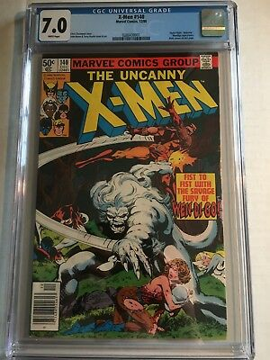 X-Men #140! CGC 7.0 White Pages! Wendigo appearance!!!