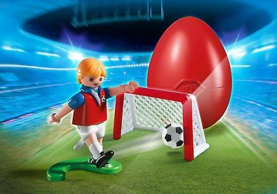 PLAYMOBIL #4947 SOCCER PLAYER WITH NET EASTER EGG SET BRAND NEW SALE-WAS $14.99