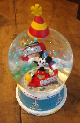 2019 Disney Parks Exclusive Mickey Mouse 90th birthday lets celebrate snow globe