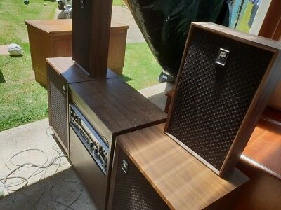 Very Rare Sharp golden sound record player with 4 speakers 1970s